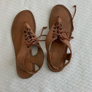 Rustic leather sandals